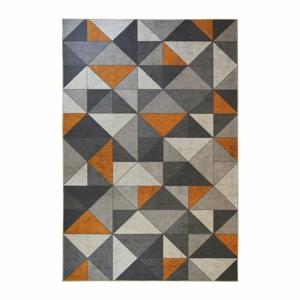 Šedo-oranžový koberec Floorita Shapes, 120 x 180 cm