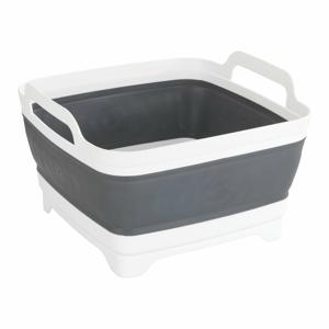 Bílo-šedý košík na mytí nádobí Wenko Salia