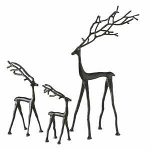 Sada 3 černých vánočních dekorací Boltze Frody