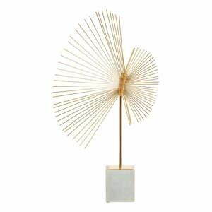 Soška ve zlato-bílé barvě s mramorovým podstavcem Premier Housewares Mirano