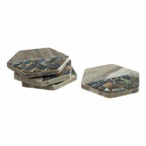 Sada 4 šedých mramorových tácků Premier Housewares Paula