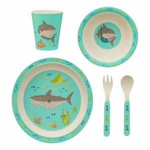 5dílná sada dětského nádobí a příborů Sass & Belle Shelby the Shark