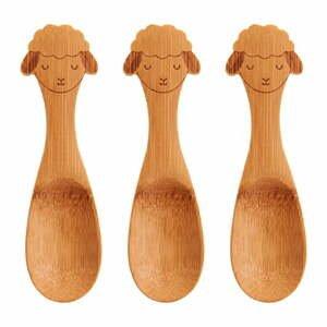 Sada 3 dětských bambusových lžiček Sass & Belle Farmyard Friends Baa Baa Lamb