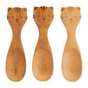 Sada 3 dětských bambusových lžiček Sass & Belle Farmyard Friends Tiger