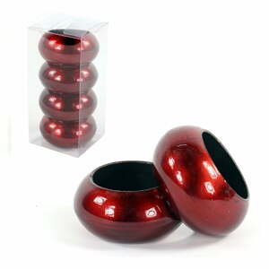 Sada 4 červených kroužků na ubrousek Unimasa