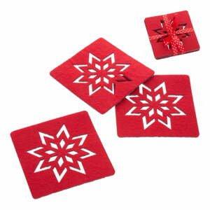 Sada 4 červených vánočních tácků Unimasa Star