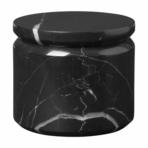 Černá mramorová úložná dóza Blomus Marble,ø9 cm