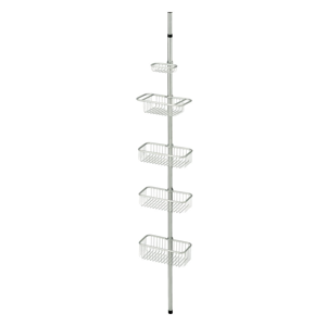 Kovový organizér s nastavitelnou výškou tyče iDesign Forma, 152-274cm