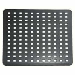 Černá podložka do dřezu iDesign, 28x32cm