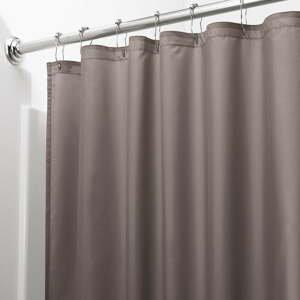 Hnědý sprchový závěs iDesign, 200x180cm