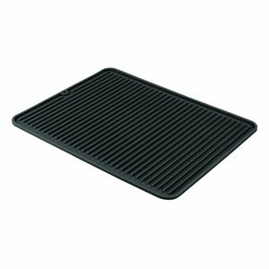 Černý kuchyňský odkapávač iDesign Lineo, 32x41cm