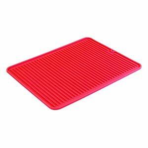 Červený odkapávač na nádobí iDesign Lineo, 40x32cm