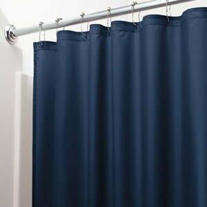 Tmavě modrý sprchový závěs iDesign, 183x183cm