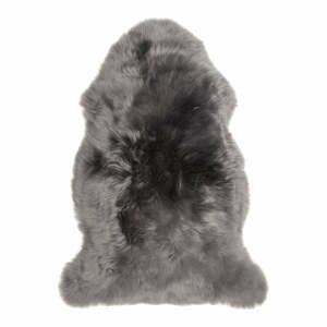Šedá ovčí kožešina loomi.design, 60 x 100 cm
