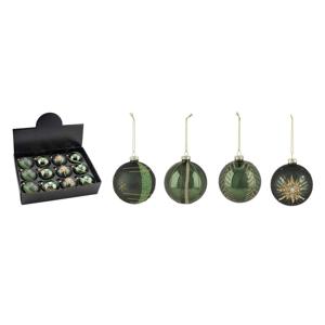 Sada 12 zelených vánočních ozdob Ego Dekor