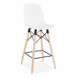 Bílá barová židle Kokoon Marcel Mini, výškasedu68cm