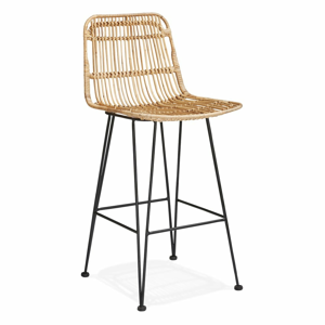Přírodní barová židle KokoonLiano Mini, výška sedáku 65cm