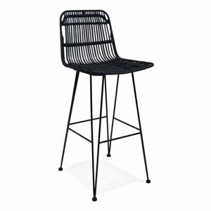 Černá barová židle KokoonLiano, výška sedáku 75cm