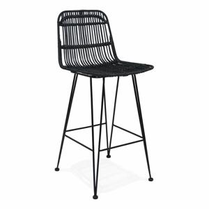 Černá barová židle KokoonLiano Mini, výška sedáku 65cm