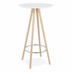 Bílý barový stůl KokoonDeboo, výška 110cm