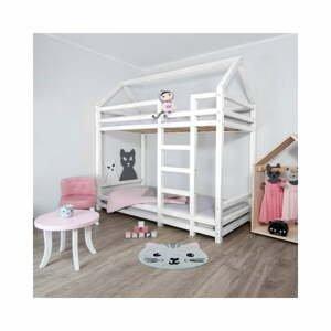 Bílá dřevěná patrová dětská postel Benlemi Twiny,120x200cm