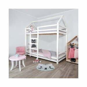 Bílá dřevěná patrová dětská postel Benlemi Twany,90x200cm