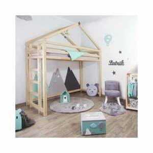 Vyvýšená postel ze smrkového dřeva BenlemiToppy, 90x200cm
