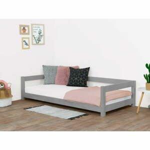 Šedá dětská postel ze smrkového dřeva BenlemiStudy, 120x200cm