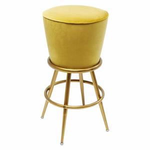 Žlutá barová židle se sametovým čalouněním Kare Design Lady Rock Yellow