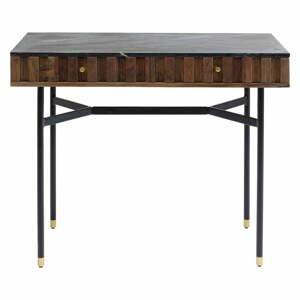 Černý psací stůl s mramorovou deskou Kare Design Apiano