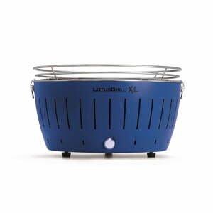Modrý bezkouřový gril na uhlí LotusGrill XL