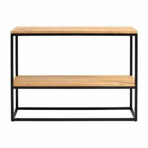 Černý konzolový stolek z dubového dřeva Custom Form Julita, výška 75 cm