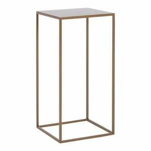 Odkládací stolek s konstrukcí ve zlaté barvě Custom Form Tensio
