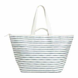 Bílo-modrá plážová taška Sunnylife Carry Me Tote