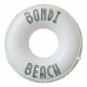 Bílý nafukovací kruh Sunnylife Bondi