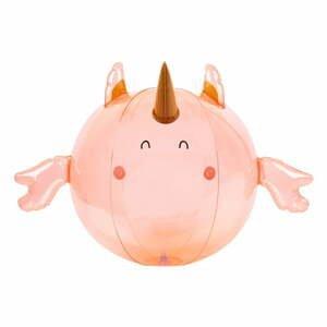 Růžový nafukovací míč Sunnylife Seahorse Unicorn