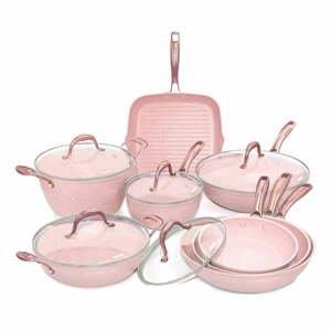 8dílný set nádobí s poklicemi Bisetti Stonerose