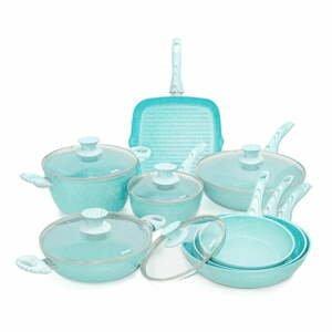 8dílný set nádobí s poklicemi Bisetti Miss Gourmet Design