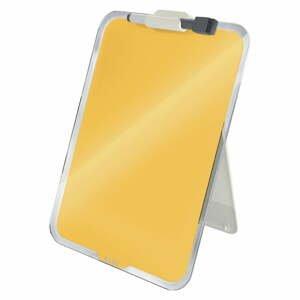 Žlutý skleněný flipchart na stůl Leitz Cosy, 22 x 30 cm
