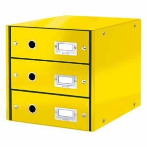 Žlutý box se 3 zásuvkami Leitz Office, 36 x 29 x 28 cm