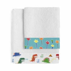 Sada 2 dětských bavlněných ručníků Moshi Moshi Funnysaurus