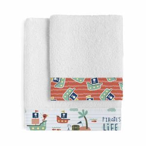 Sada 2 dětských bavlněných ručníků Moshi Moshi Pirate Life