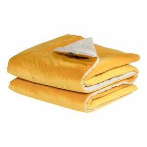Žlutá přikrývka Hartman Jolie, 130x170cm