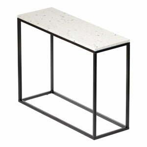 Konzolový stolek s kamennou deskou RGE Bianco