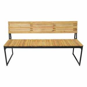 Zahradní lavice zakáciového dřeva s kovovou konstrukcí Edeis Brick