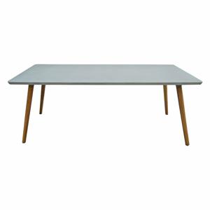 Zahradní stůl s deskou z betonu a nohami z akáciového dřeva Ezeis Clipper