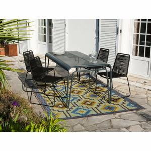 Zahradní set 4 stohovatelných židlí a stolu Ezeis Clipper Modern