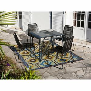 Zahradní set 4 stohovatelných židlí a stolu Ezeis Clipper Modern Square