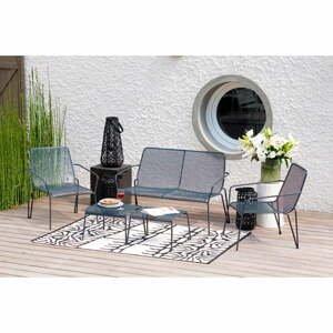 Šedý kovový 5-ti dílný set zahradního nábytku Ezeis Ambroise