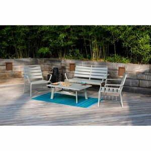 Set zahradního stolku, křesel a lavice Ezeis Spring Lounge
